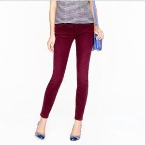 J. Crew Toothpick Skinny Corduroy 28 Tall Ankle